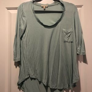 Blue 3/4 sleeve shirt